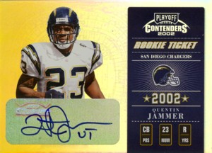 Quentin Jammer 2002 Playoff Contenders Rookie Ticket Autograph 300枚限定!