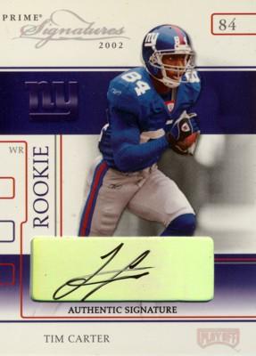 Tim Carter 2002 Playoff Prime Signatures Autograph 120枚限定!