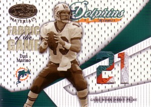Dan Marino 2004 Leaf Certified Materials Fabric of the Game Patch 21枚限定!