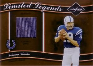 Johnny Unitas 2004 Leaf Limited Legends Jersey 50枚限定!