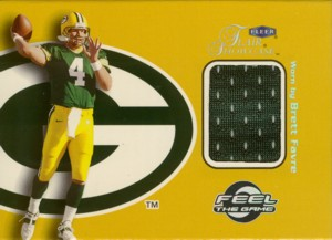 Brett Favre 1999 Flair Showcase Feel the Game Jersey