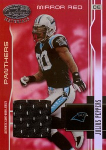 Julius Peppers 2003 Leaf Certified Materials Mirror Red Jersey 150枚限定!