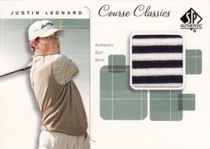 Justin Leonard 2002 SP Authentic Course Classics Shirt