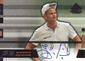 Jesper Parnevik 2003 SP Game Used Scorecard Signatures SS-JP5