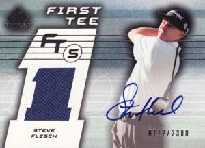 Steve Flesch 2003 SP Game Used First Tee Tier 5 Autograph 2300枚限定!