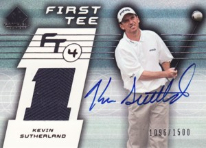 Kevin Sutherland 2003 SP Game Used First Tee Tier 4 Autograph 1500枚限定!
