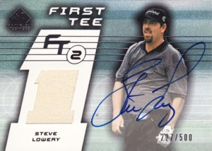 Steve Lowery 2003 SP Game Used First Tee Tier 2 Autograph 500枚限定!
