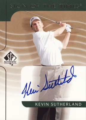 Kevin Sutherland 2003 SP Authentic Sign of the Times