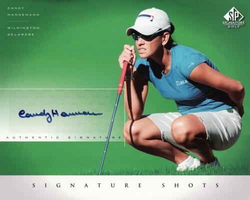 キャンディ・ハネマン GOLF 2004 SP Signature Shots 8×10 Photo Card / Candy Hannemann