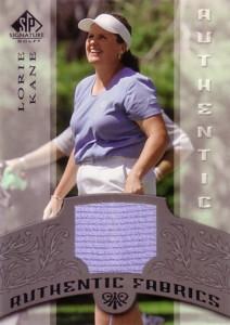 Lorie Kane 2005 SP Signature Authentic Fabrics Singles