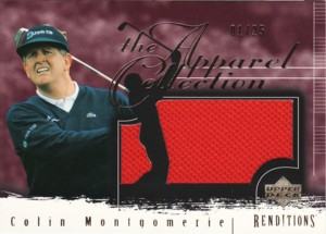 Colin Montgomerie 2003 UD Renditions Apparel Collection Gold 25枚限定!