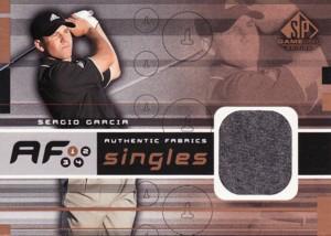 Sergio Garcia 2003 SP Game Used Authentic Fabrics Singles