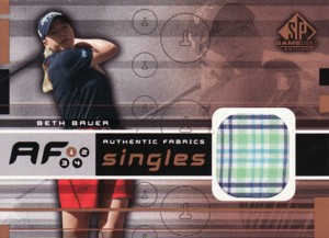 Beth Bauer 2003 SP Game Used Authentic Fabrics Singles