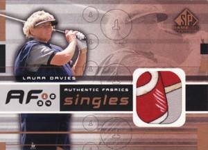 Laura Davies 2003 SP Game Used Authentic Fabrics Singles