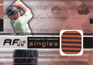 Lee Janzen 2003 SP Game Used Authentic Fabrics Singles