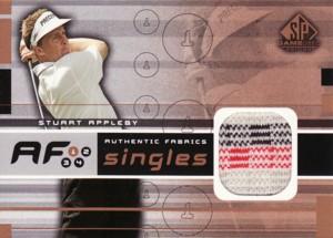 Stuart Appleby 2003 SP Game Used Authentic Fabrics Singles
