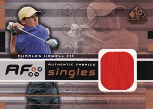 Charles Howell � 2003 SP Game Used Authentic Fabrics Singles