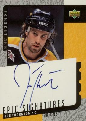 Joe Thornton 2000/01 UD Legends Epic Signatures