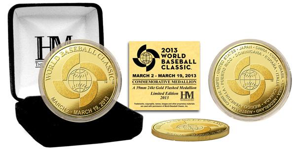 The Highland Mint (ハイランドミント) 2013 ワールドベースボールクラシック(WBC) ゴールドカラーコイン (2013 World Baseball Classic Gold Coin)