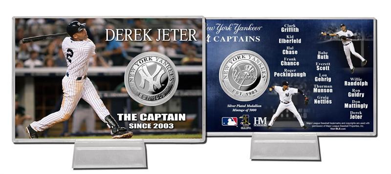The Highland Mint (ハイランドミント) デレク・ジーター ニューヨーク・ヤンキース シルバーコインカード ザ・キャプテン (Derek Jeter)