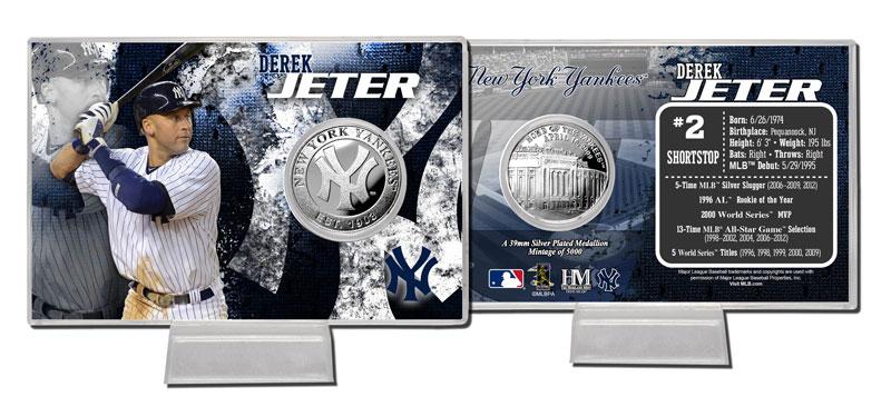 2013 デレク・ジーター シルバーコインカード (2013 Derek Jeter Silver Coin Card)