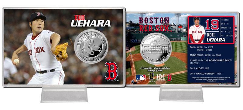 The Highland Mint (ハイランドミント) 上原浩治 ボストン・レッドソックス シルバーコインカード (Koji Uehara Silver Coin Card)★4/28入荷