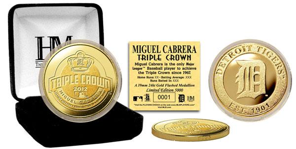 The Highland Mint (ハイランドミント) ミゲル・カブレラ デトロイト・タイガース 打撃三冠王記念ゴールドコイン (Miguel Cabrera 2012 AL Triple Crown Gold Coin)