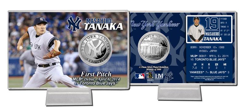 The Highland Mint (ハイランドミント) 田中将大 ニューヨーク・ヤンキース MLBデビューシルバーコインカード (Masahiro Tanaka MLB Debut Silver Coin Card) ★4/28入荷