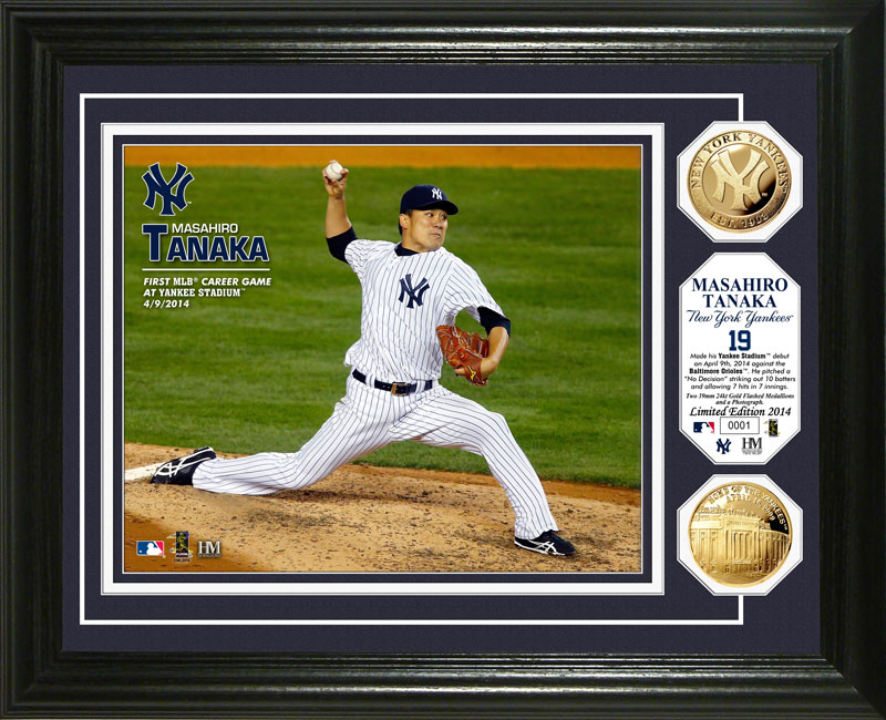 The Highland Mint (ハイランドミント) 田中将大 ニューヨーク・ヤンキース ヤンキー・スタジアムデビューゴールドコインフォトプラーク (Masahiro Tanaka Yankee Stadium Gold Coin Photo Mint)