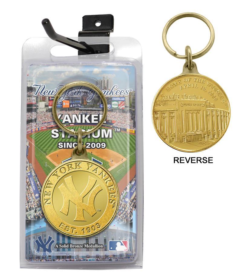 The Highland Mint (ハイランドミント) ニューヨーク・ヤンキース ブロンズ・チーム・キーチェーン (New York Yankees Bronze Team Keychain)