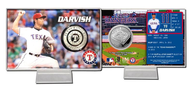 The Highland Mint (ハイランドミント) 2014 ダルビッシュ有 テキサス・レンジャーズ シルバーコインカード (2014 Yu Darvish Silver Coin Card) ★4/28入荷!