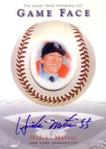 松井秀喜 MLBカード 2003 UD Game Face Autographs