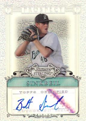 Brett Sinkbeil 2006 Bowman Sterling Prospects Refractor Autographs 199枚限定!