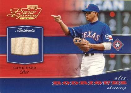 Alex Rodriguez 2002 Playoff Piece of the Game Authentic Game-Used Bat Gold 50枚限定!