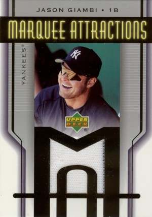 Jason Giambi 2005 Upper Deck Marquee Attractions Jersey