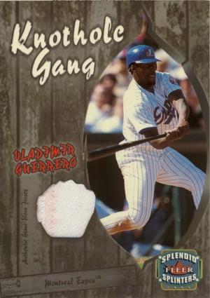Vladimir Guerrero 2003 Fleer Splendid Splinters Knothole Gang Game Jersey