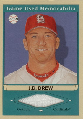 J.D. Drew 2003 UD Play Ball Game-Used Memorabilia Tier 1 Jersey