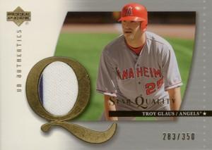 Troy Glaus 2003 UD Authentics Star Quality Jersey 350枚限定!