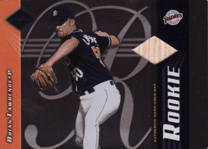 Brian Lawrence 2001 Leaf Limited Rookie Bat 700枚限定!