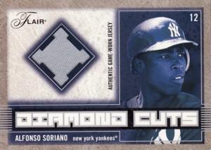 Alfonso Soriano 2003 Flair Diamond Cuts Jersey