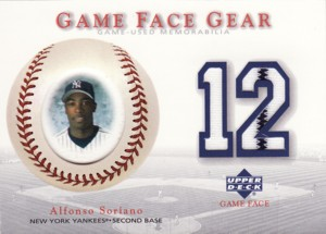 Alfonso Soriano 2003 UD Game Face Gear Jersey