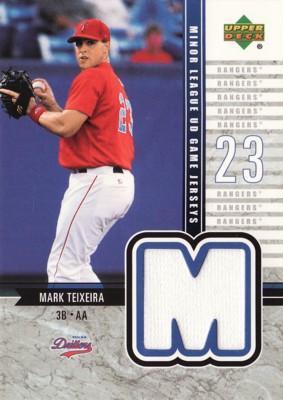Mark Teixeira 2002 UD Minor League Game Jersey
