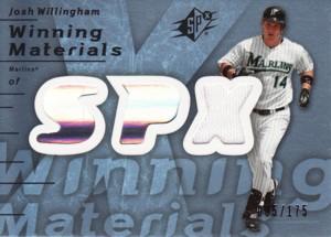 Josh Willingham 2007 SPx Winning Materials Blue Jersey 175枚限定!