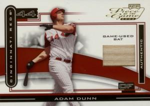 Adam Dunn 2003 Playoff Piece of the Game Bat