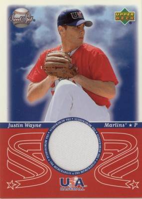 Justin Wayne 2002 Sweet Spot USA Jersey