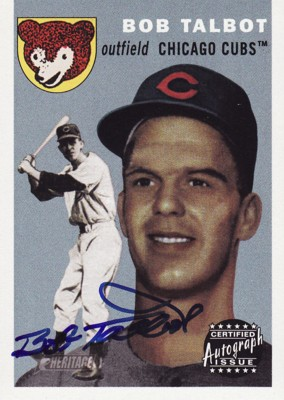 Bob Talbot 2003 Topps Heritage Real One Autographs