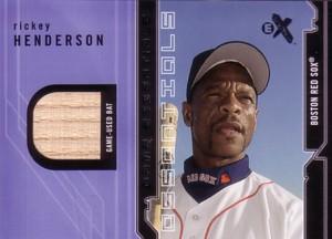 Rickey Henderson 2002 Fleer Ex Bat