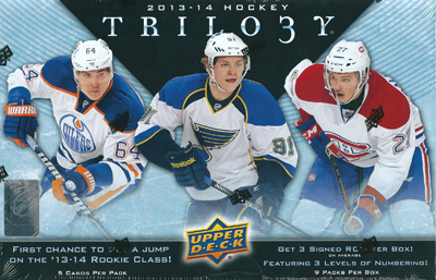 NHL 13/14 UD Trilogy パック (Pack)