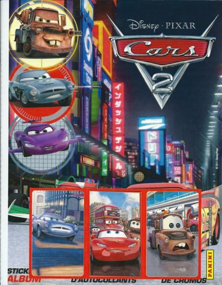 【カーズ2 ステッカー用アルバム (ステッカー12枚とポスター1枚付属)】 Panini Disney Cars 2 Stickers Album★6/13入荷!