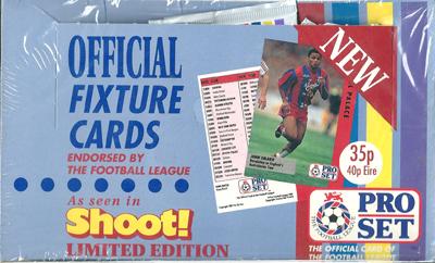 【サッカーカード】 SC 90/91 Pro Set Official Fixture Cards Box (ボックス) / イングランドリーグトレーディングカード